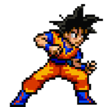 Transparent sprite goku. Roblox