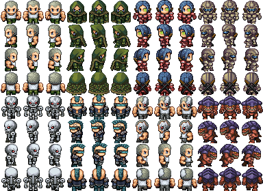 Transparent sprite rpg. Trying to make the