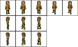 Transparent sprite zombie. Sheet anta expocoaching co