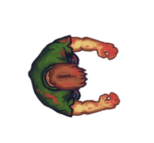 Transparent sprite zombie. Animated top down opengameart
