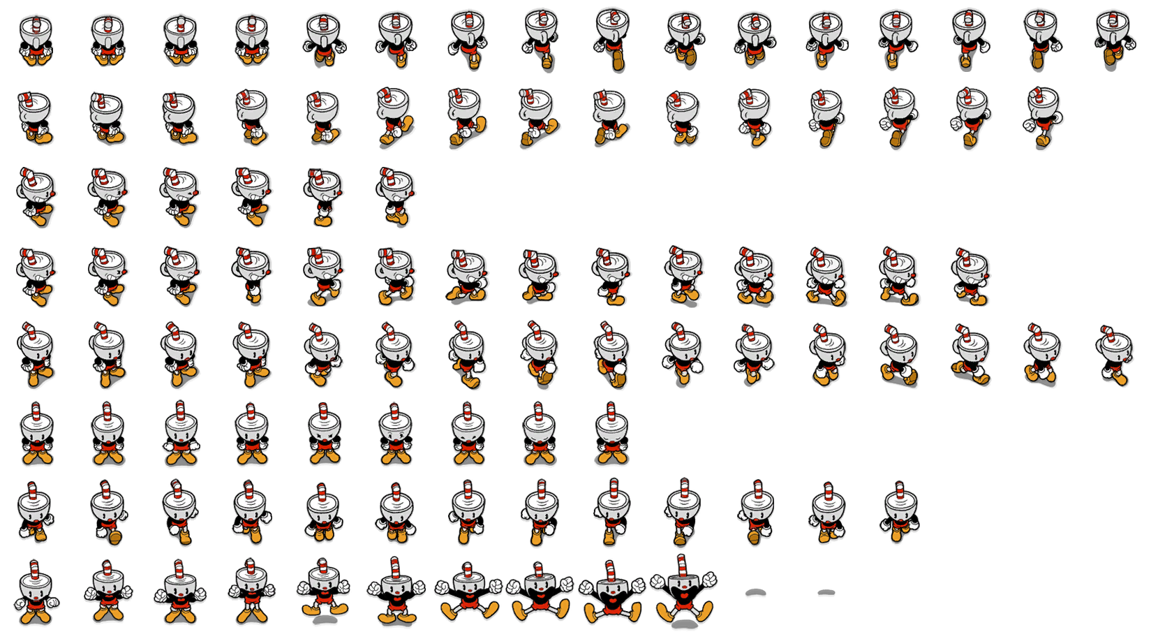 Transparent sprites cuphead. Pc computer don t