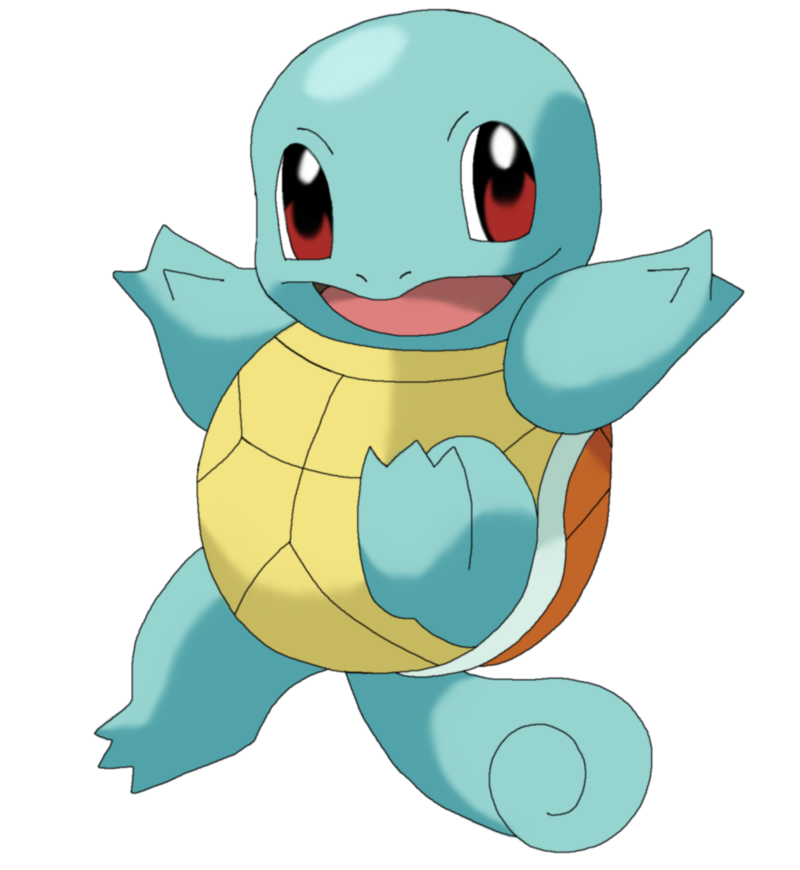 Transparent squirtle. Pokemon png by megbeth