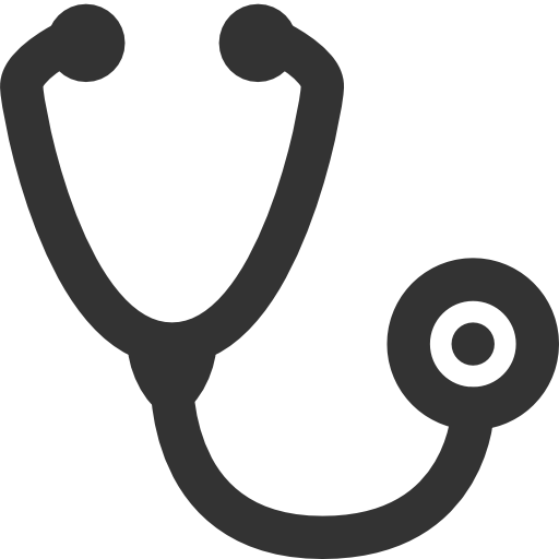 Transparent stethoscope logo. Icon page
