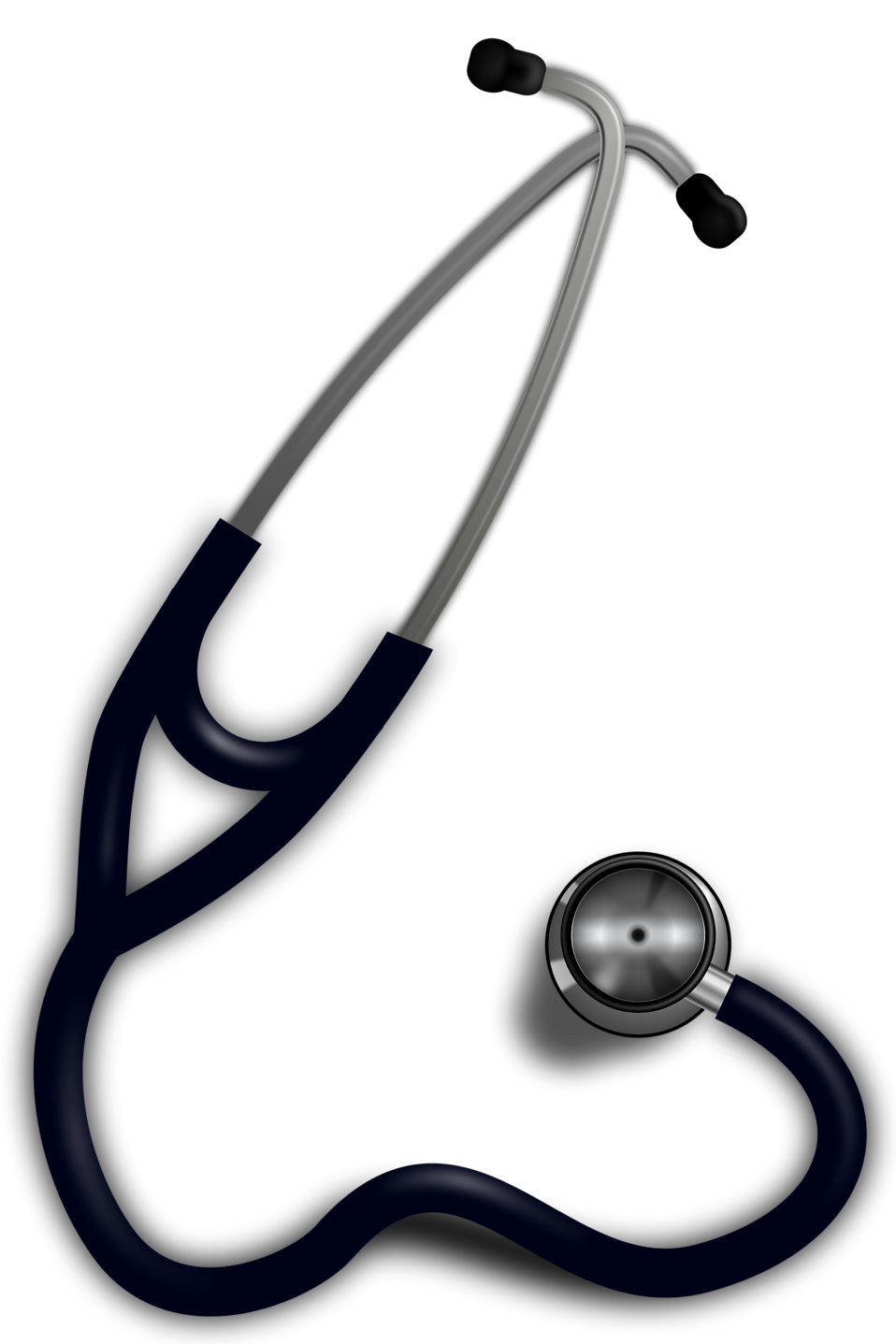 Transparent stethoscope medical equipment. Healthcare clipart library