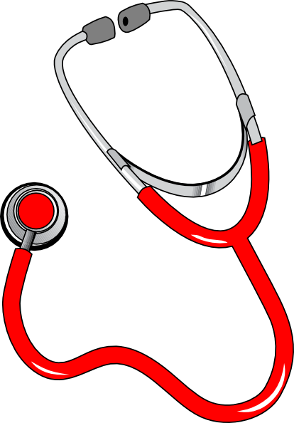Transparent stethoscope red. Clip art at clker