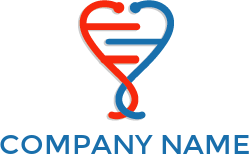And dna forming logo. Transparent stethoscope shape heart picture stock