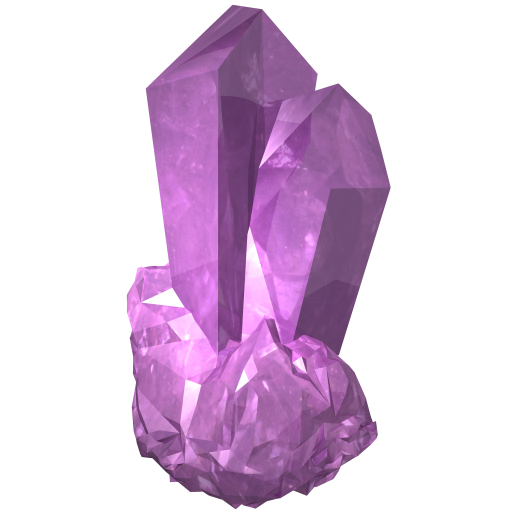 Transparent stones amethyst. Icons for free icon