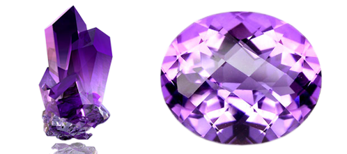 Stone neelam ratn crystal. Transparent gem amethyst picture black and white