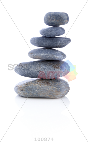 Transparent stones clear. Stock photo of balanced
