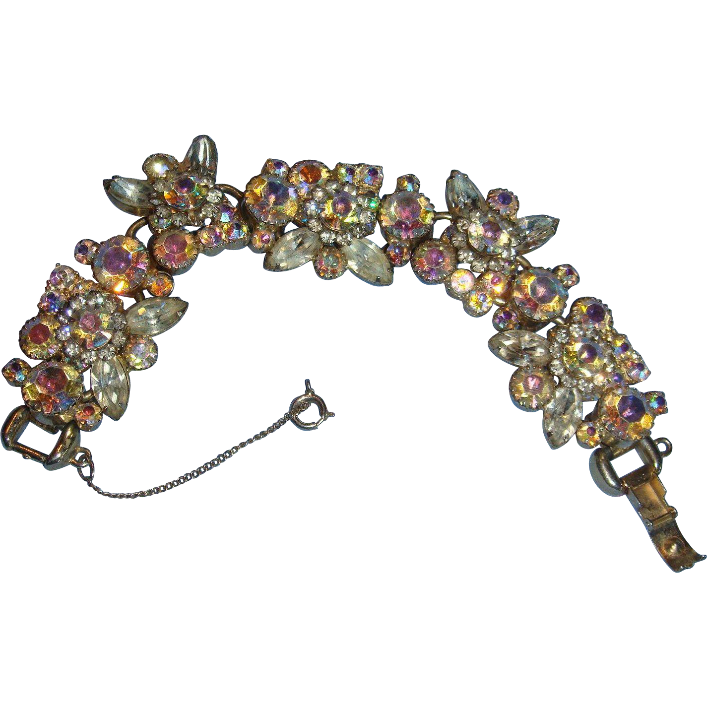 Transparent stones clear. Wide and chunky juliana
