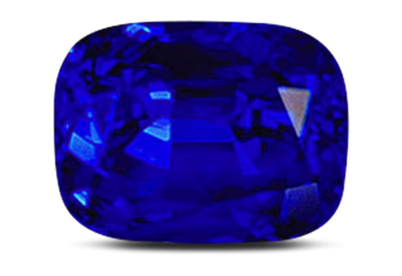 Transparent stones dark blue. Gems of sri lanka
