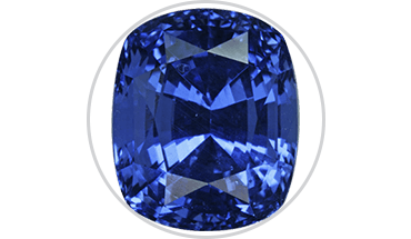 Transparent stones dark blue. Gemstone education guide to