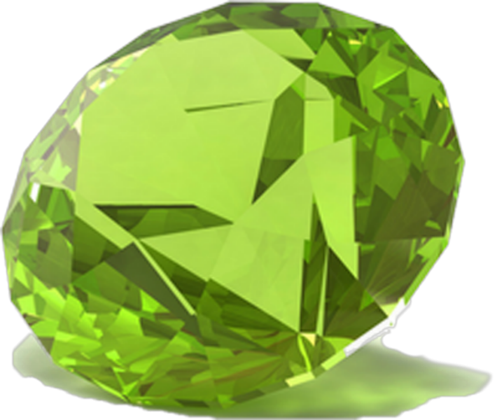 Transparent stones peridot. Gems of sri lanka