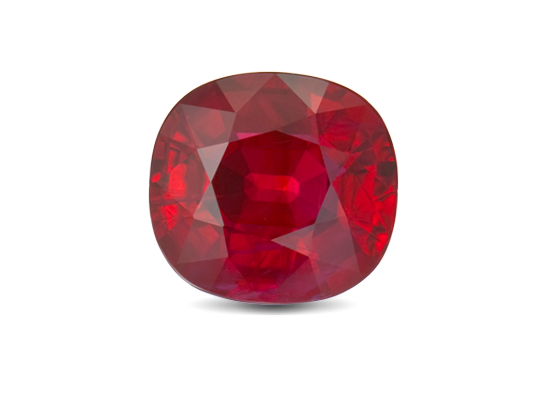 Transparent stones red. Ruby or yakoot carats