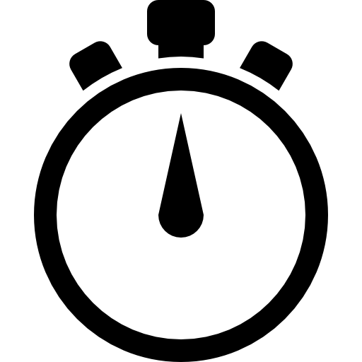 Transparent stopwatch black and white. Icons free download demo