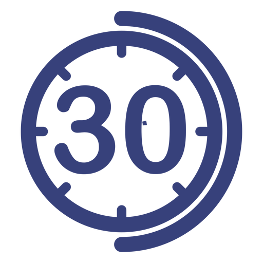 Transparent stopwatch 30 minute. Minutes clock icon
