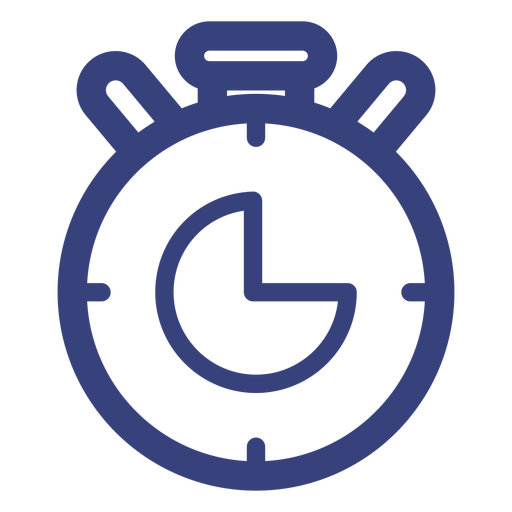 Stopwatch transparent svg. Stroke icon png vector