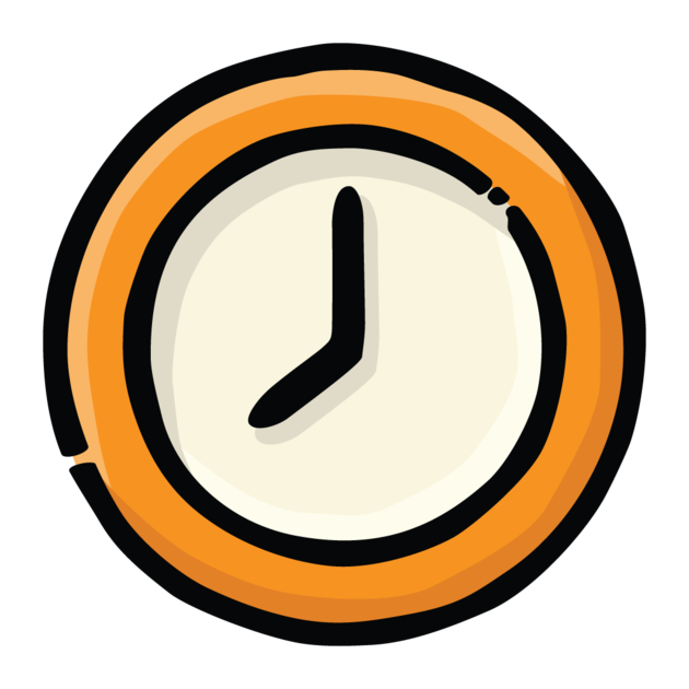 Transparent stopwatch blank. Classroom timer on the