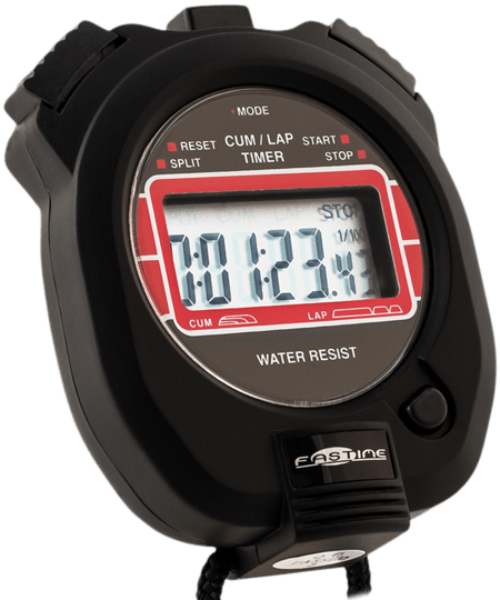 Transparent stopwatch racing. Motorcycle stopwatches professional quality