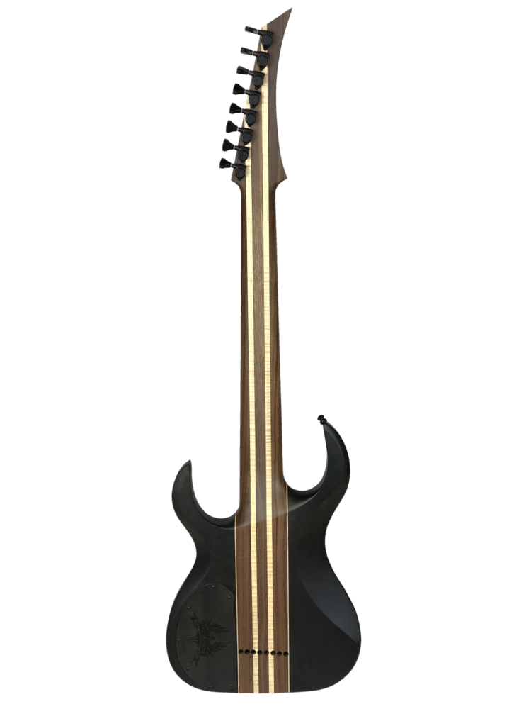 Transparent string back. Esoterik guitars dr black
