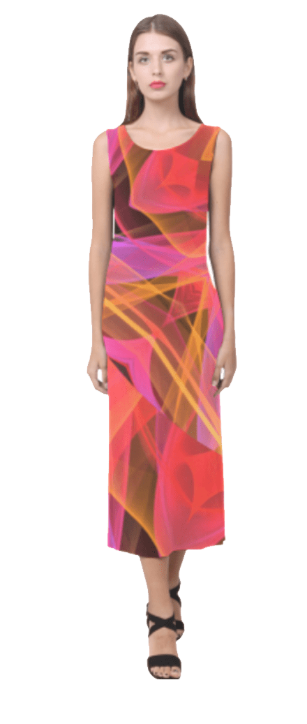 Transparent sundresses translucent. Modern abstract peach violet