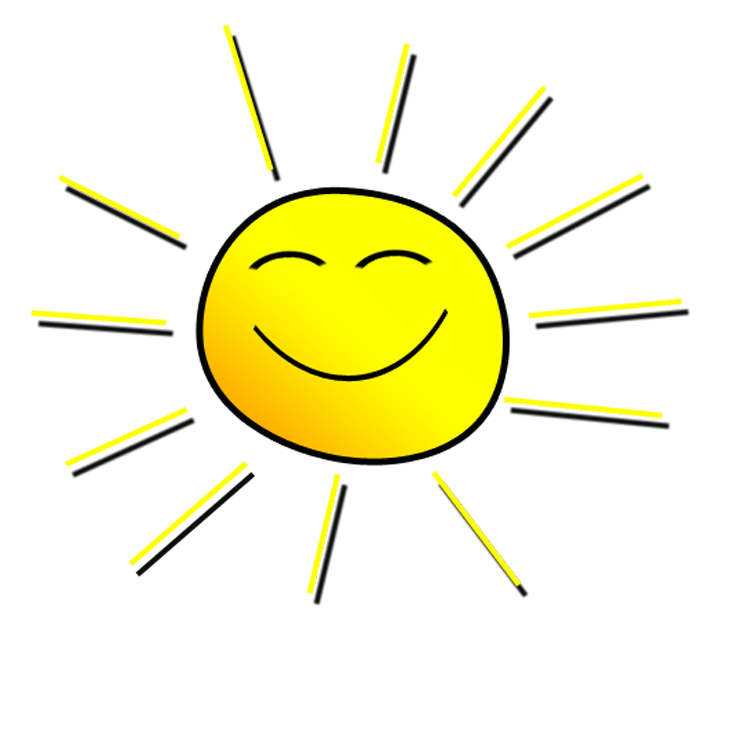 Transparent sunshine smiling. Sun banner download