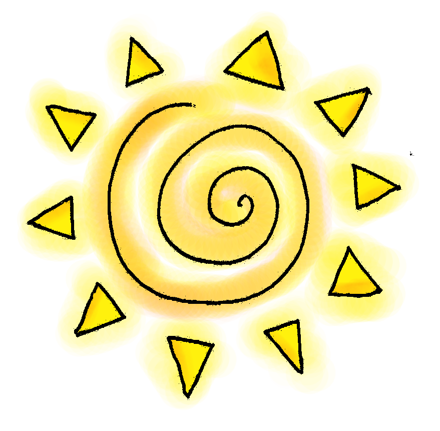 Transparent sunshine summer clip art. Sun huge freebie