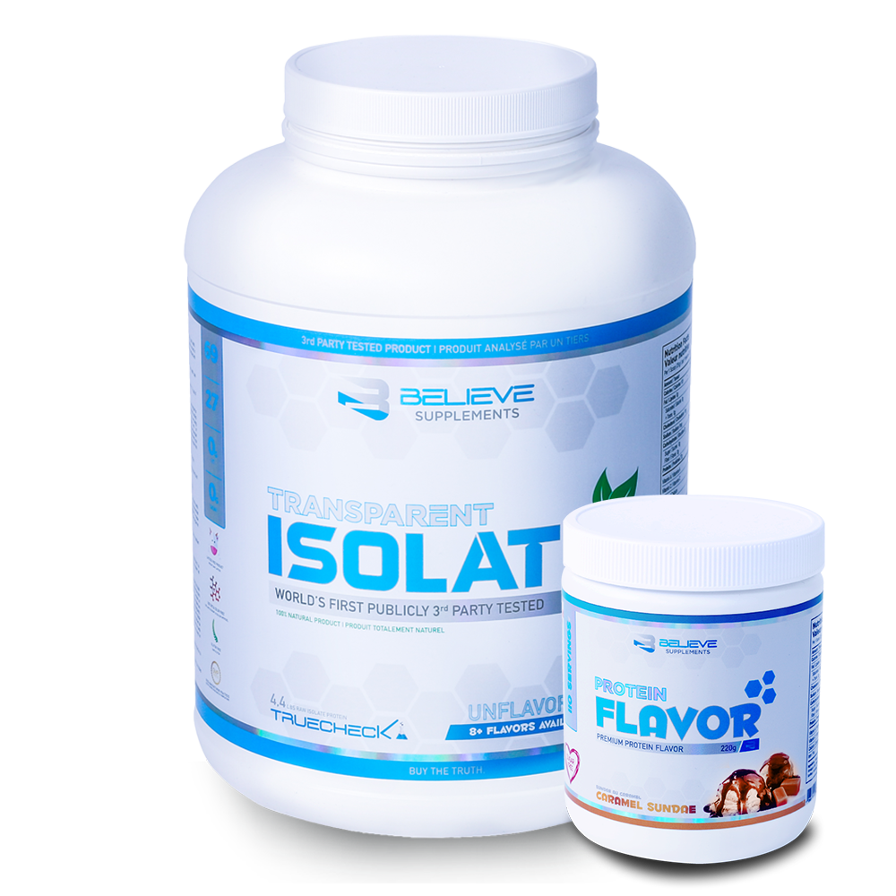 Transparent supplements believe. Isolate unflavored flavor pack