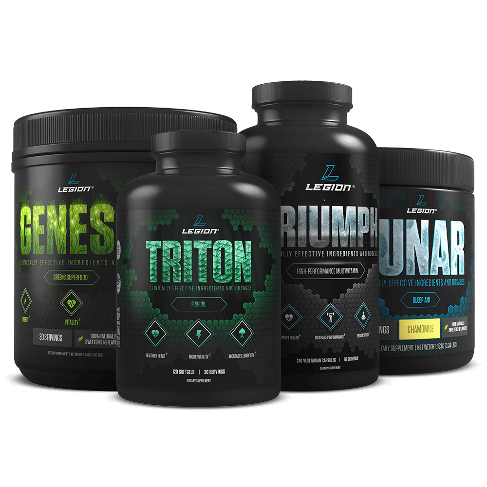 Transparent supplements stack. The optimal performance legion