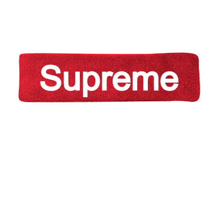 Transparent supreme red rectangle. Custom headbands screen rotate