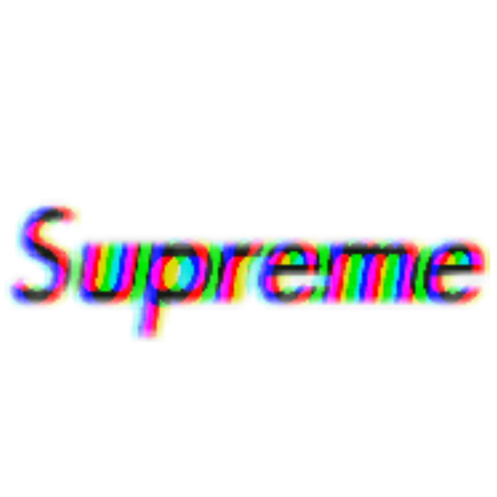 Transparent supreme glitched. Glitch effect tumblr aesthetic