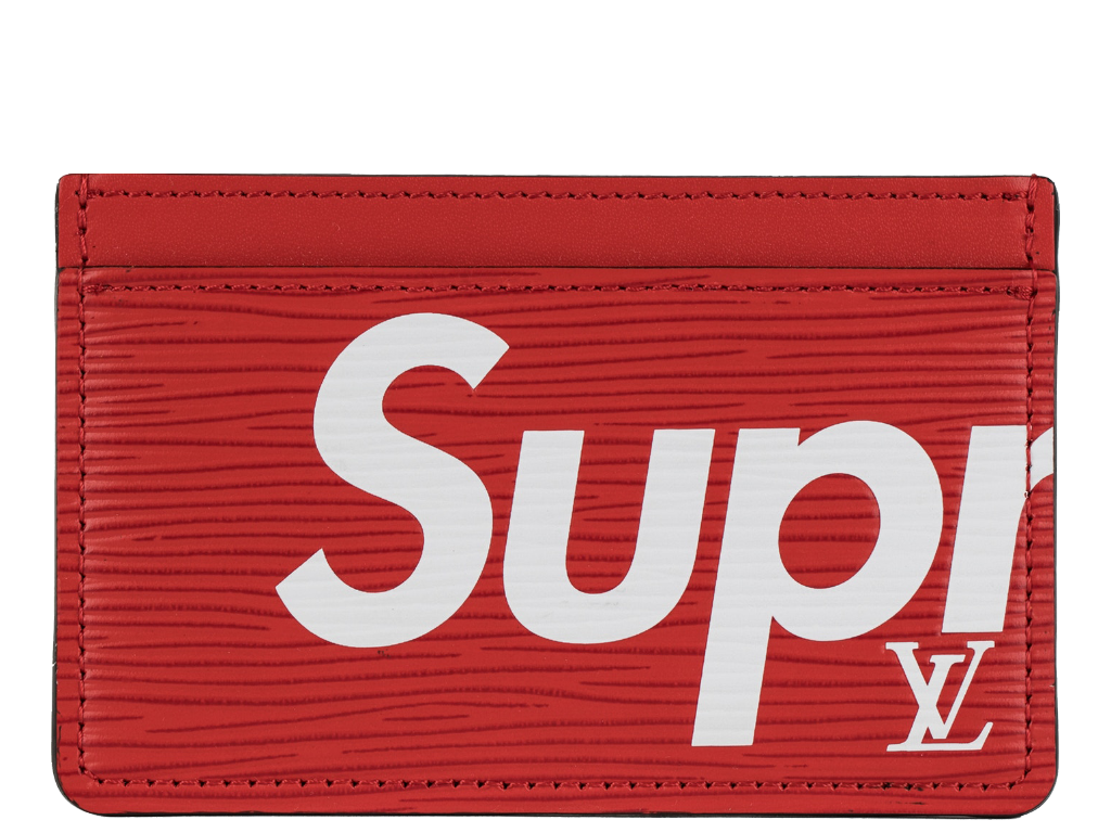 Transparent supreme red rectangle. Louis vuitton x porte