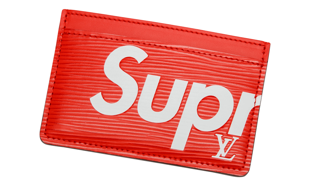 Transparent supreme louis vuitton. Card holder red wespeso