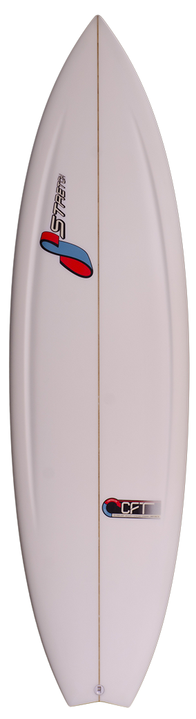 Transparent surfboard dip. Surfboards stretch boards made