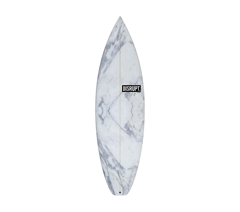 transparent surfboard marble