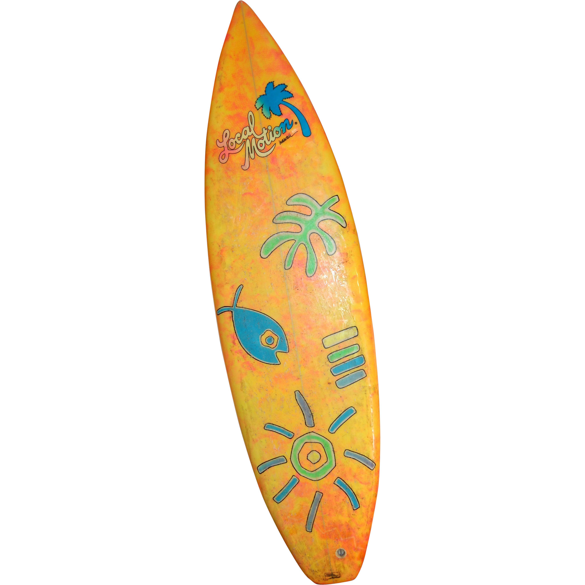Transparent surfboard toy