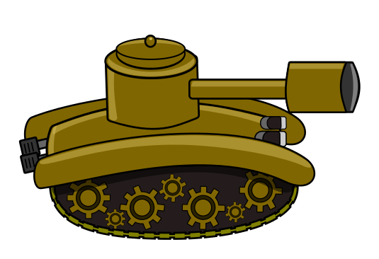 Yellow tank. Army clipart clip art