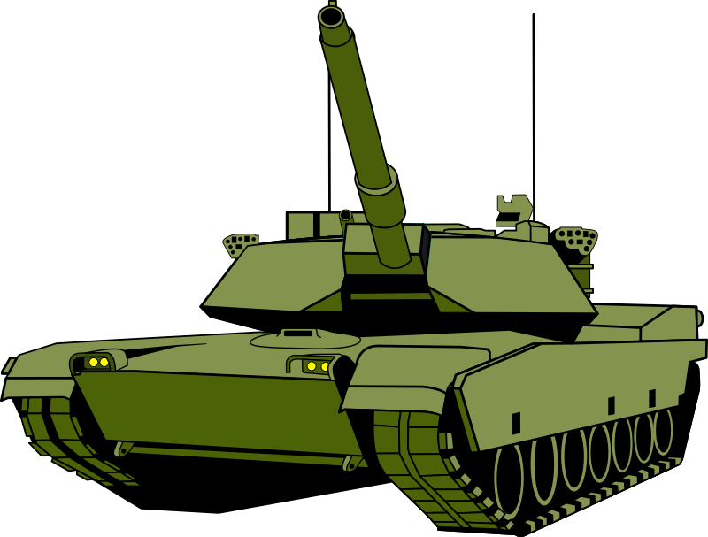 Transparent tank clip art. Collection of army