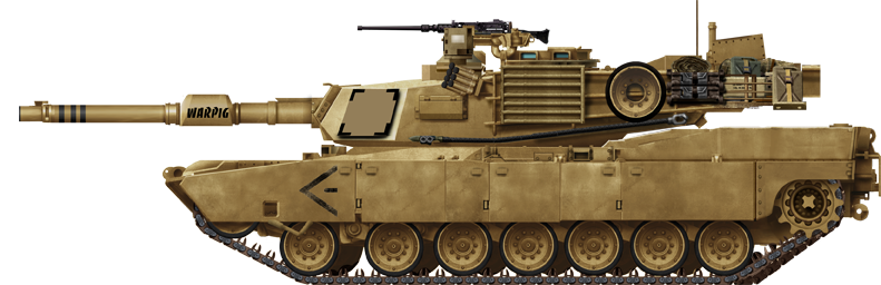 Transparent tank m1a2. M abrams main battle