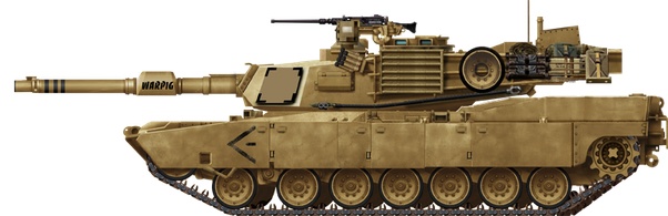 Transparent tank m1a2. What would happen if