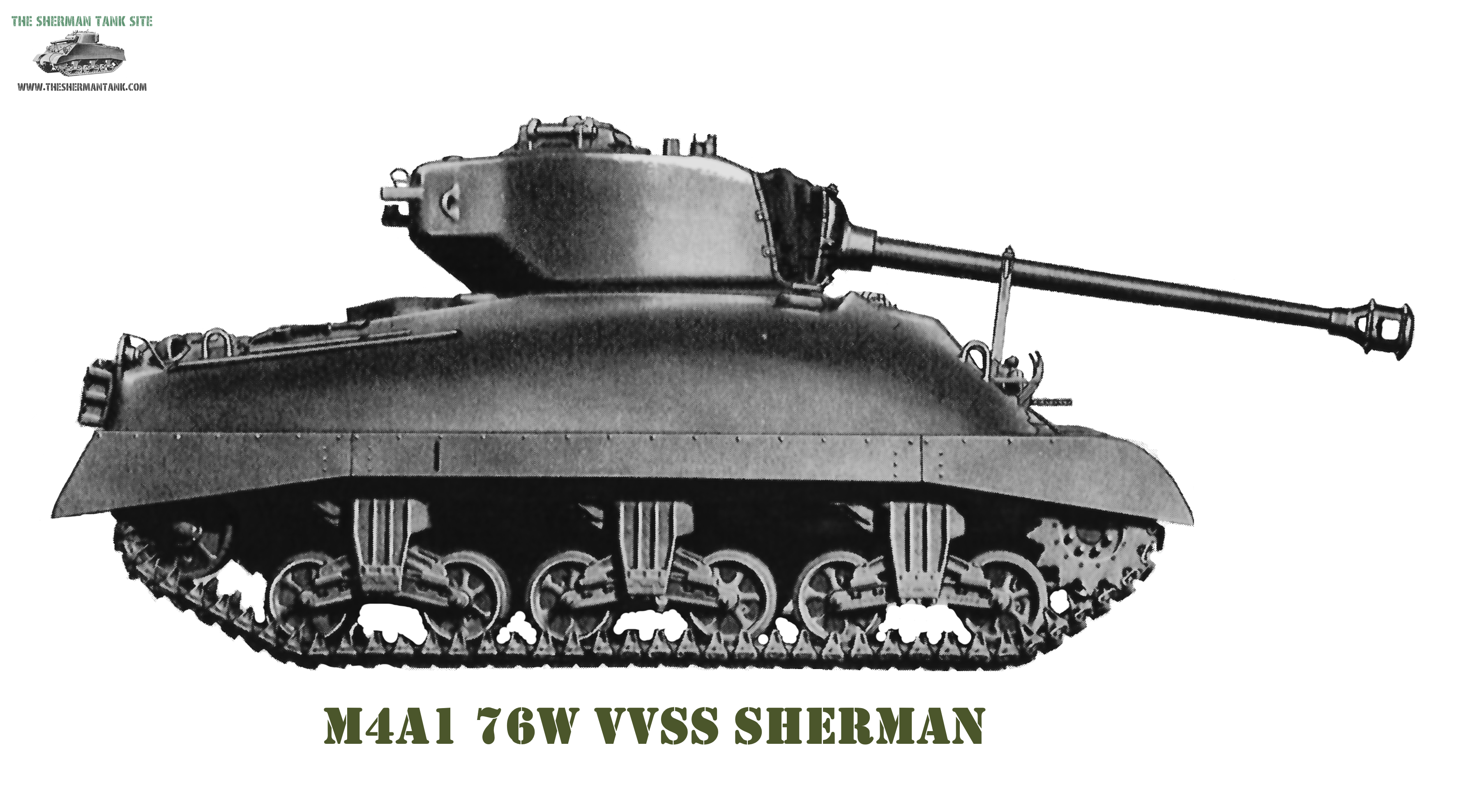 Transparent tank m4a1. Firecontrol the sherman site
