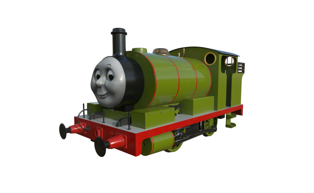Transparent tank percy the small engine. By tomixnscale on deviantart