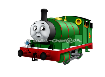 Transparent tank percy the small engine. Green by robie chan