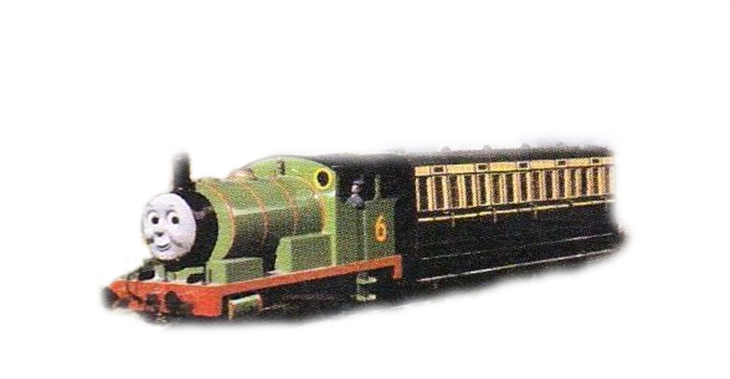 transparent train percy
