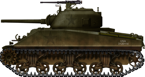Transparent tank sherman. Medium m encyclopedia early