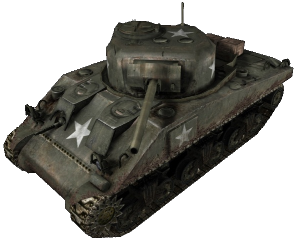 Transparent tank sherman. M call of duty
