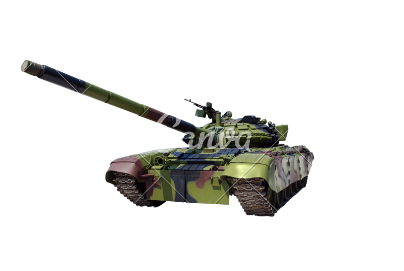 Transparent tank toy. Cut out photos by