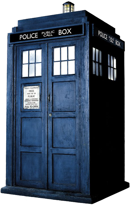 Transparent tardis background. How to draw from