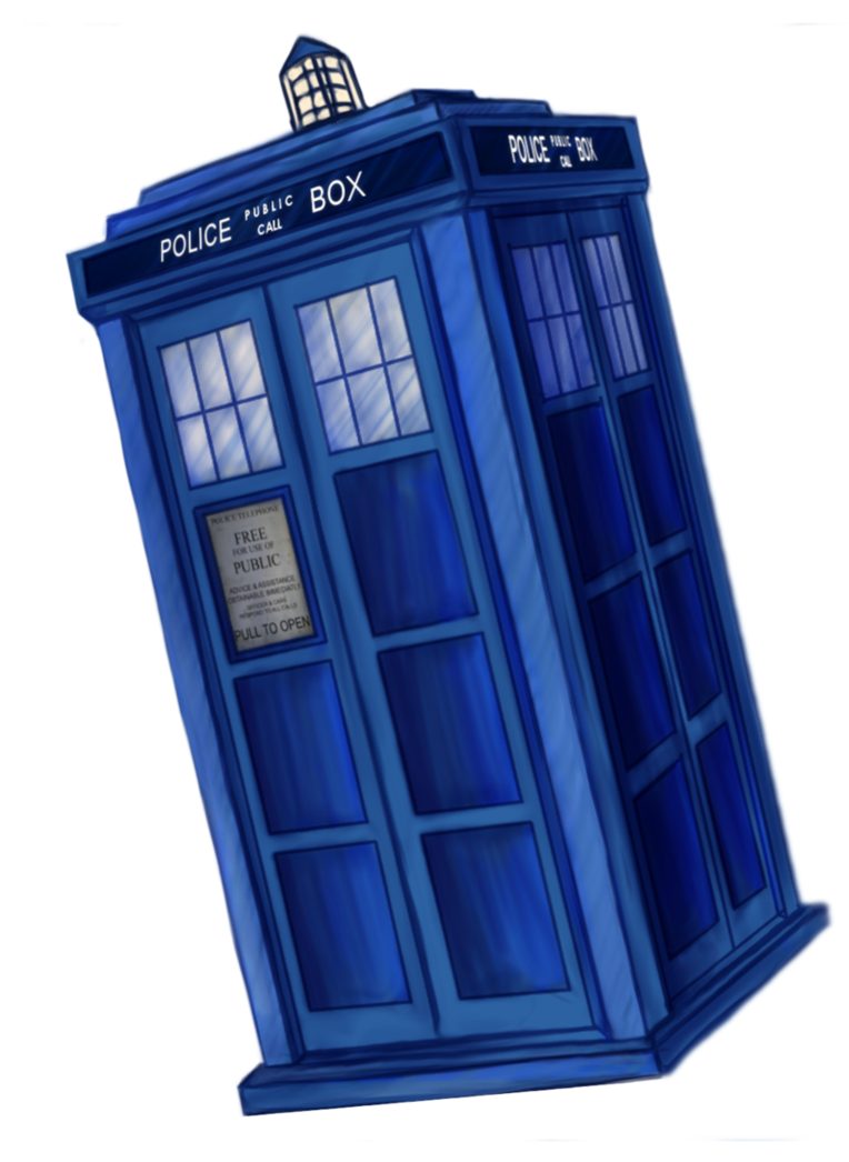 Transparent tardis flying. By dalagar on deviantart