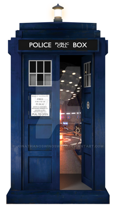 Transparent tardis open. Th doctor s